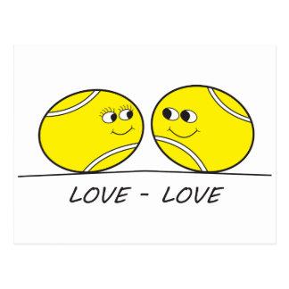 De liefde-Liefde van het tennis Briefkaart