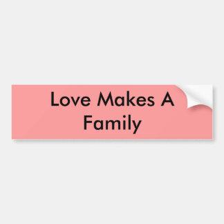 De liefde maakt een Familie Bumpersticker