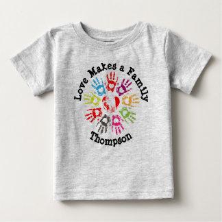 De liefde maakt een Familie - Goedkeuring Baby T Shirts
