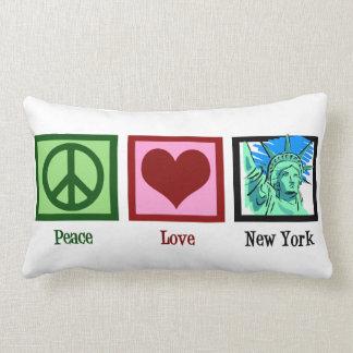 De Liefde New York van de vrede Lumbar Kussen