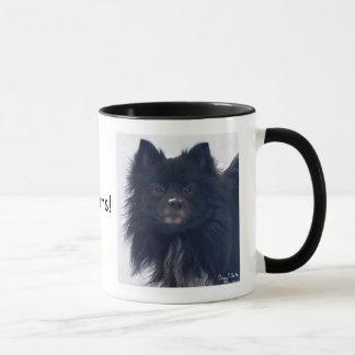 """De """"LIEFDE Pomeranians van I!"""" Het Schilderen van Mok"""