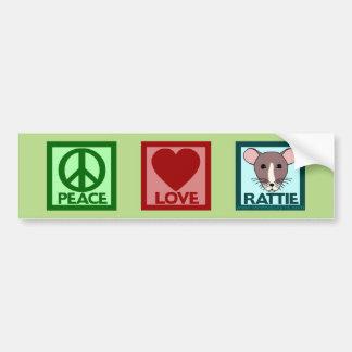 De Liefde Rattie van de vrede Bumpersticker