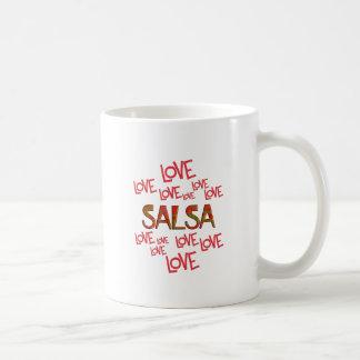 De Liefde Salsa van de liefde Koffiemok