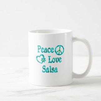 De Liefde Salsa van de vrede Koffiemok