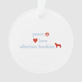 De Liefde Siberische Huskies van de vrede Ornament