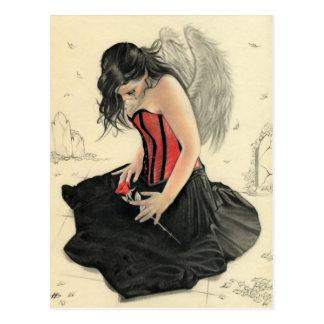 De liefde sterft nooit rouwend angelPostcard Briefkaart