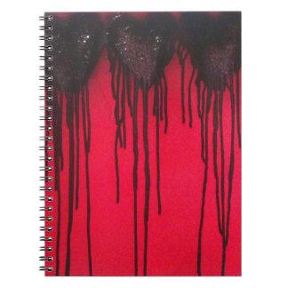 De liefde tapt Zwarte af Ringband Notitieboek