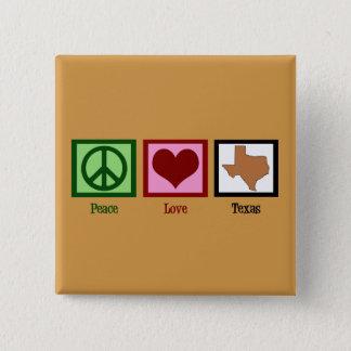 De Liefde Texas van de vrede Vierkante Button 5,1 Cm