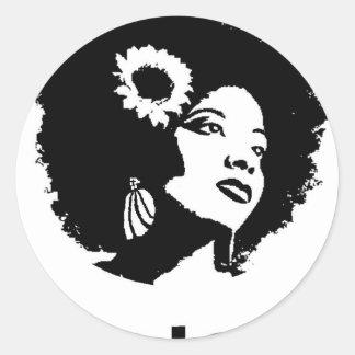De Liefde van Afro Ronde Sticker