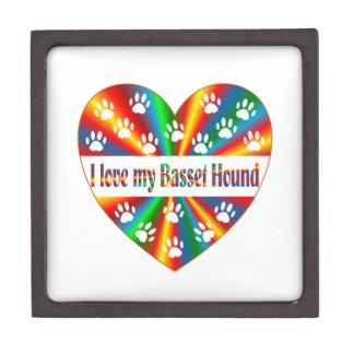 De Liefde van Basset Hound Premium Decoratiedoosjes