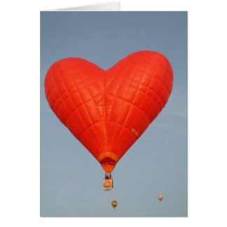 De Liefde van de ballon is in de Lucht Kaart