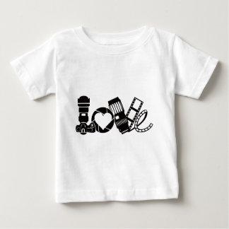 De Liefde van de camera Baby T Shirts