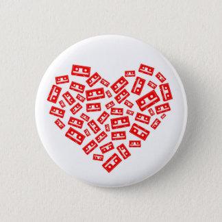 De Liefde van de cassette Ronde Button 5,7 Cm