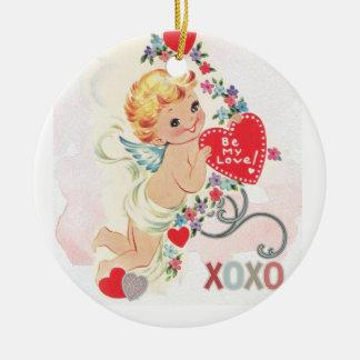 De liefde van de engel rond keramisch ornament