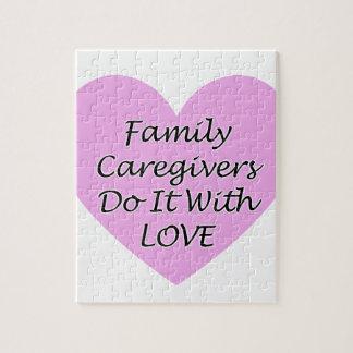 De Liefde van de familie Caregivers Do It With Legpuzzel