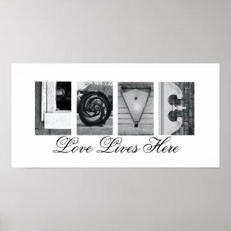 De Liefde van de Fotografie van de Brief van het Poster