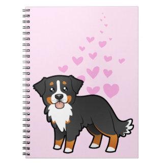 De Liefde van de Hond van de Berg van Bernese Ringband Notitieboeken