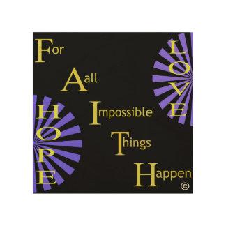 De Liefde van de Hoop van het geloof Hout Afdrukken