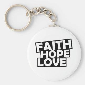 De Liefde van de Hoop van het geloof Sleutelhanger