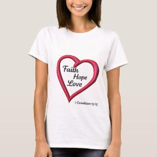 De Liefde van de Hoop van het geloof T Shirt