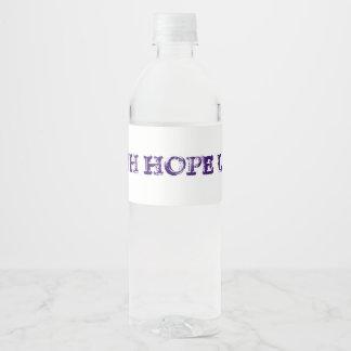 De Liefde van de Hoop van het geloof Waterfles Etiket