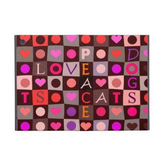 De Liefde van de Katten van de Honden van harten iPad Mini Hoesje