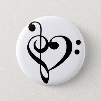 De Liefde van de muziek Ronde Button 5,7 Cm