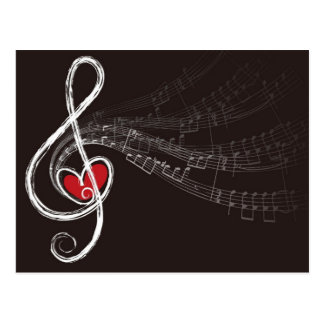 De Liefde van de Muziek van de g-sleutel Briefkaart