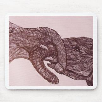 De liefde van de olifant muismatten