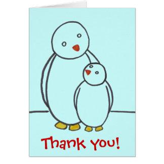 De Liefde van de Ouder van de pinguïn dankt u Briefkaarten 0