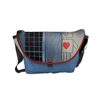De liefde van de robot courier bags