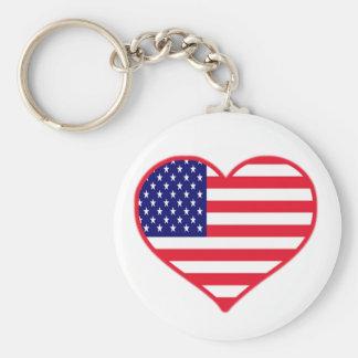 De Liefde van de V.S. Sleutelhanger
