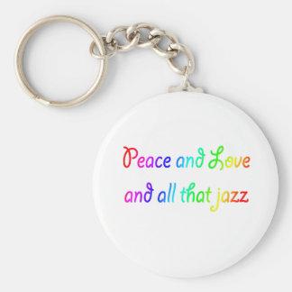 De Liefde van de Vrede van de regenboog en Al dat  Sleutelhanger