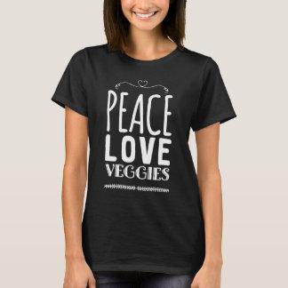 De liefde van de vrede veggies t shirt