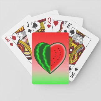 De Liefde van de watermeloen Pokerkaarten