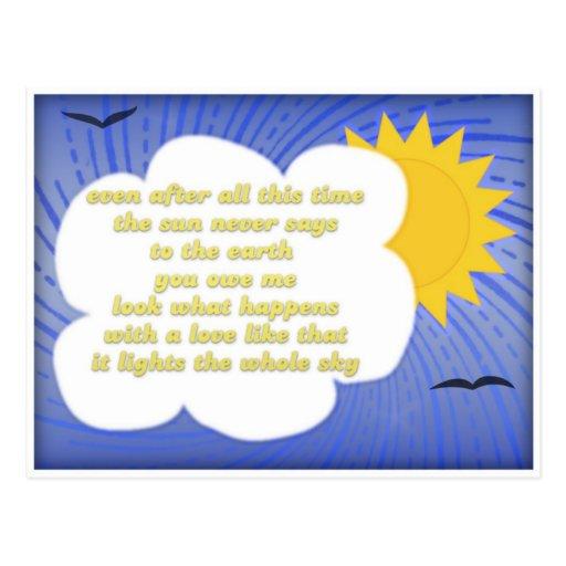 De liefde van de zon voor aarde door hafiz briefkaart zazzle - Doek voor de zon ...