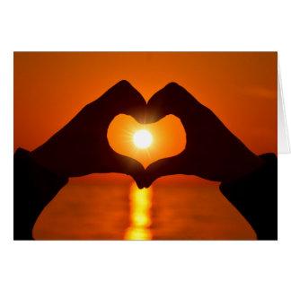 De Liefde van de zonsondergang is geduldig, is de Kaart