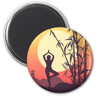 De Liefde van de Zonsondergang van de yoga Magneet