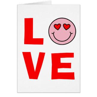 De Liefde van Emoji van de Ogen van het Hart van Briefkaarten 0