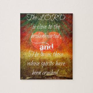 De Liefde van het 34:18 van de psalm Puzzel