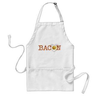 De LIEFDE van het bacon aan zonnige kant omhoog! Standaard Schort