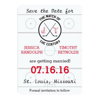 De Liefde van het hockey bewaart de Datum Kaart