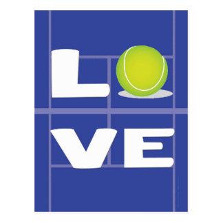 De LIEFDE van het tennis Briefkaart