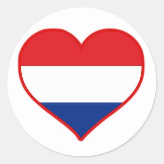 De Liefde van Holland Ronde Stickers