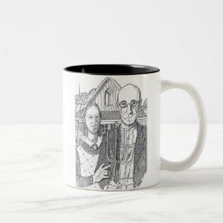 """De """"liefde van I Gotisch u"""" Tweekleurige Koffiemok"""