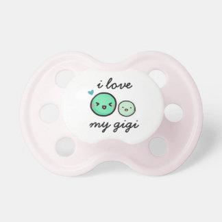 """De """"liefde van I Mijn Gigi"""" Twee Erwten Baby Speentjes"""
