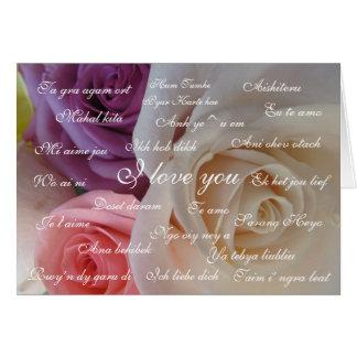 """De """"liefde van I u"""" in 23 talen Kaart"""