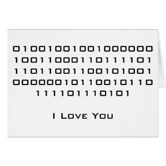 """De """"liefde van I u"""" in Binaire Code Kaart"""