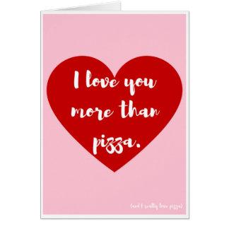 """De """"liefde van I u meer dan pizza,"""" de Kaart van"""