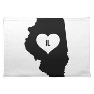 De Liefde van Illinois Placemat